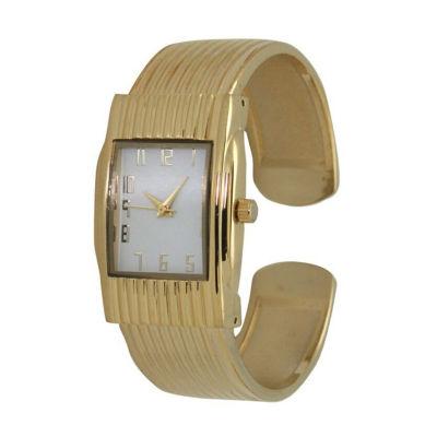 Olivia Pratt Unisex Gold Tone Bracelet Watch-A916781gold