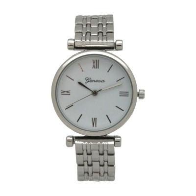 Olivia Pratt Emoji Unisex Silver Tone Strap Watch-15921silver