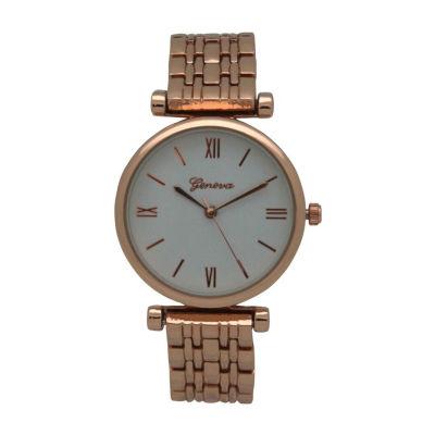 Olivia Pratt Emoji Unisex Rose Goldtone Strap Watch-15921rosegold