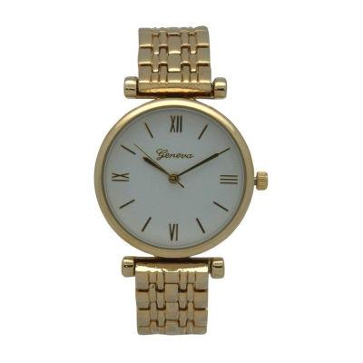 Olivia Pratt Unisex Gold Tone Strap Watch-15921gold