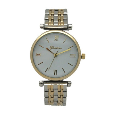 Olivia Pratt Unisex Two Tone Strap Watch-15921twotone
