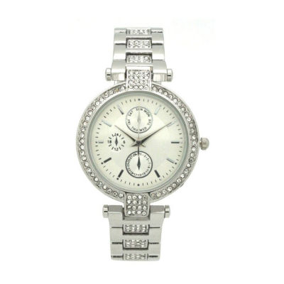 Olivia Pratt Unisex Silver Tone Strap Watch-16852silver
