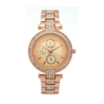 Olivia Pratt Unisex Rose Goldtone Strap Watch-16852rose