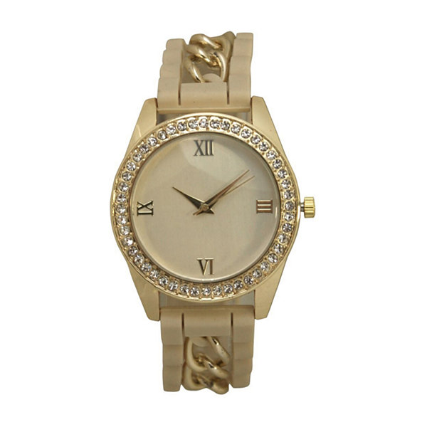 Olivia Pratt Unisex White Bracelet Watch-B80005cream