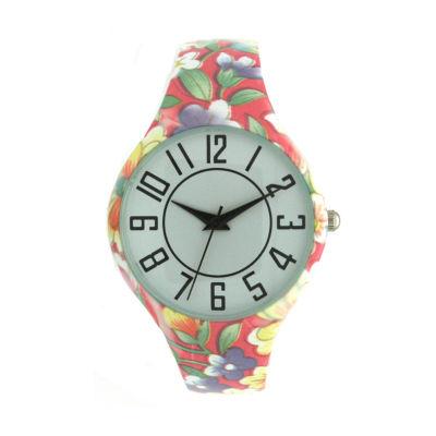 Olivia Pratt Unisex Yellow Bracelet Watch-H10054pinkyellow