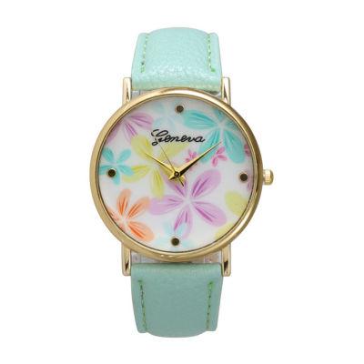 Olivia Pratt Floral Unisex White Bracelet Watch-20376mint