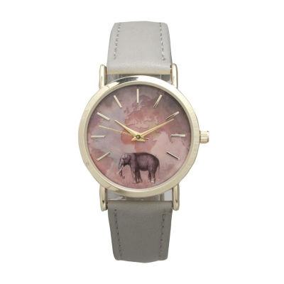 Olivia Pratt Elephant Unisex White Bracelet Watch-16249grey