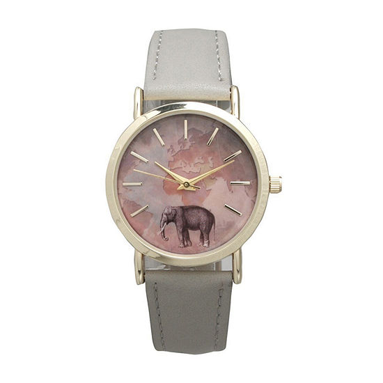 Olivia Pratt Elephant Unisex White Bracelet Watch 16249grey