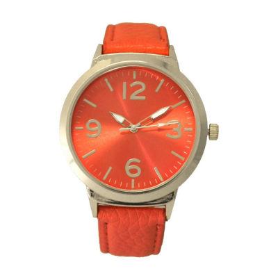 Olivia Pratt Cat Unisex Black Strap Watch-27060coral
