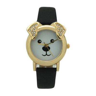 Olivia Pratt Dog Unisex Pink Strap Watch-H10046black