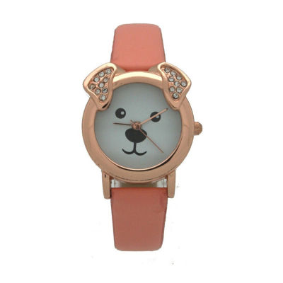 Olivia Pratt Dog Unisex Gold Tone Strap Watch-H10046peach