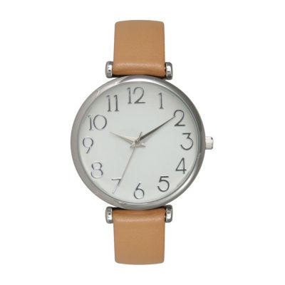 Olivia Pratt Unisex Pink Strap Watch-B80000lightbrown