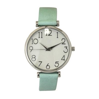 Olivia Pratt Unisex Black Strap Watch-B80000mint
