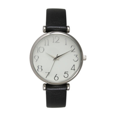 Olivia Pratt Unisex Gray Strap Watch-B80000black