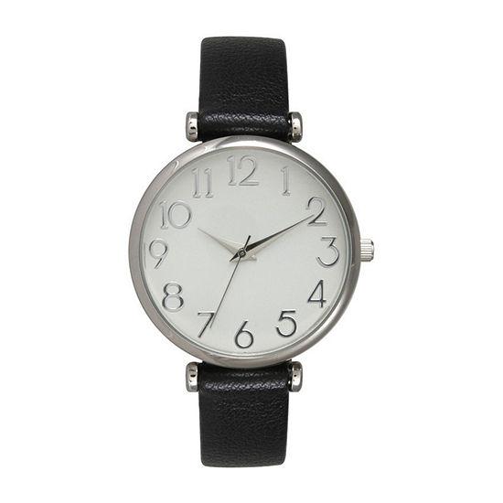 Olivia Pratt Unisex Gray Strap Watch B80000black