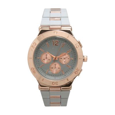 Olivia Pratt Unisex White Strap Watch-15098greyrose