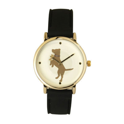 Olivia Pratt Dog Unisex Gray Strap Watch-16765black