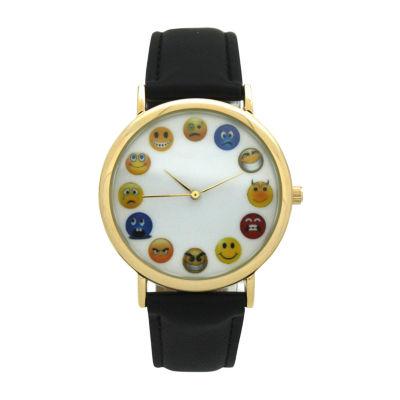 Olivia Pratt Unisex Black Strap Watch-17477black