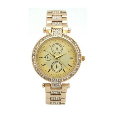 Olivia Pratt Unisex Gold Tone Strap Watch-16852gold