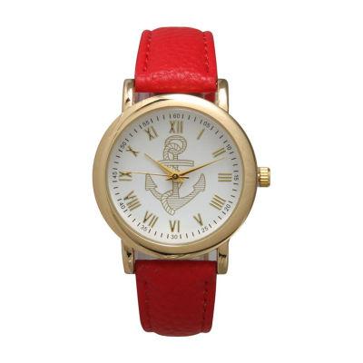 Olivia Pratt Floral Unisex Red Bracelet Watch-15322red