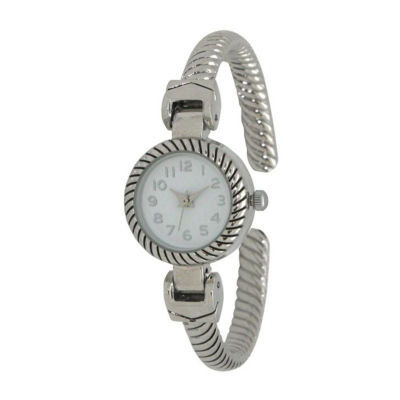 Olivia Pratt Unisex Silver Tone Strap Watch-17063silver