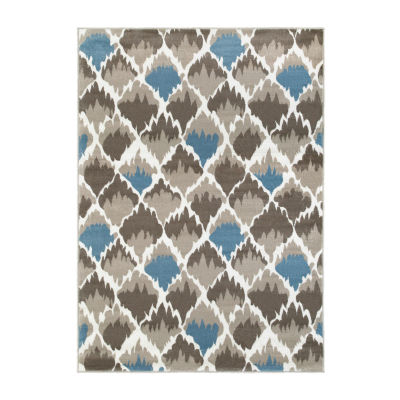 Grace Contemporary Diamond Rectangular Rug