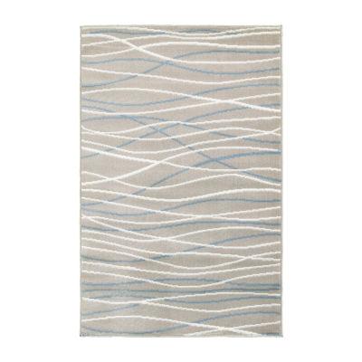 Grace Modern Striped Rectangular Rug