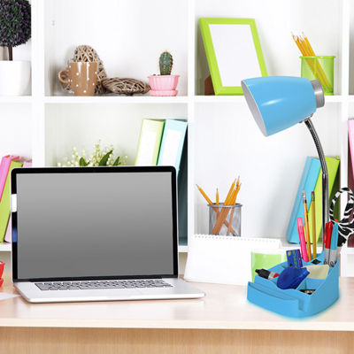 Limelights Gooseneck Organizer Desk Lamp with iPad Tablet Stand Book Holder
