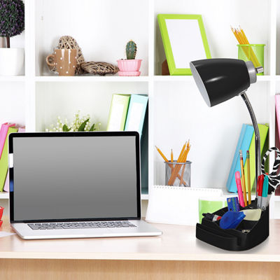 Limelights Gooseneck Organizer Desk Lamp with iPad Tablet Stand Book Holder and USB port