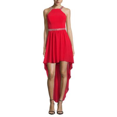 B. Darlin Sleeveless Applique Evening Gown-Juniors