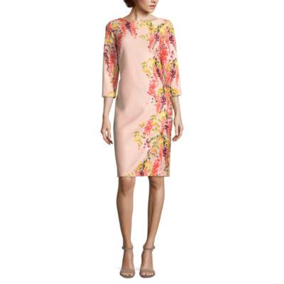 Worthington 3/4 Sleeve Scuba Dress