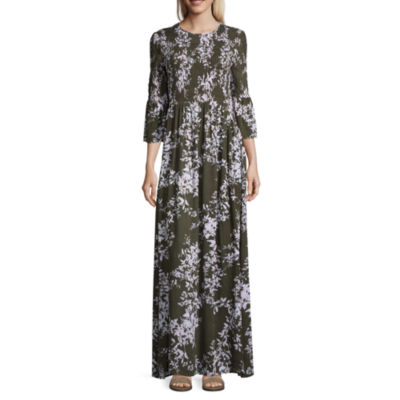 a.n.a. Smocked Maxi Dress