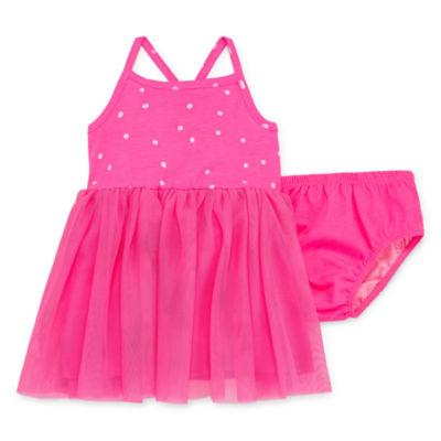 Okie Dokie Polka Dot Sleeveless Tutu Dress - Baby Girl NB-24M
