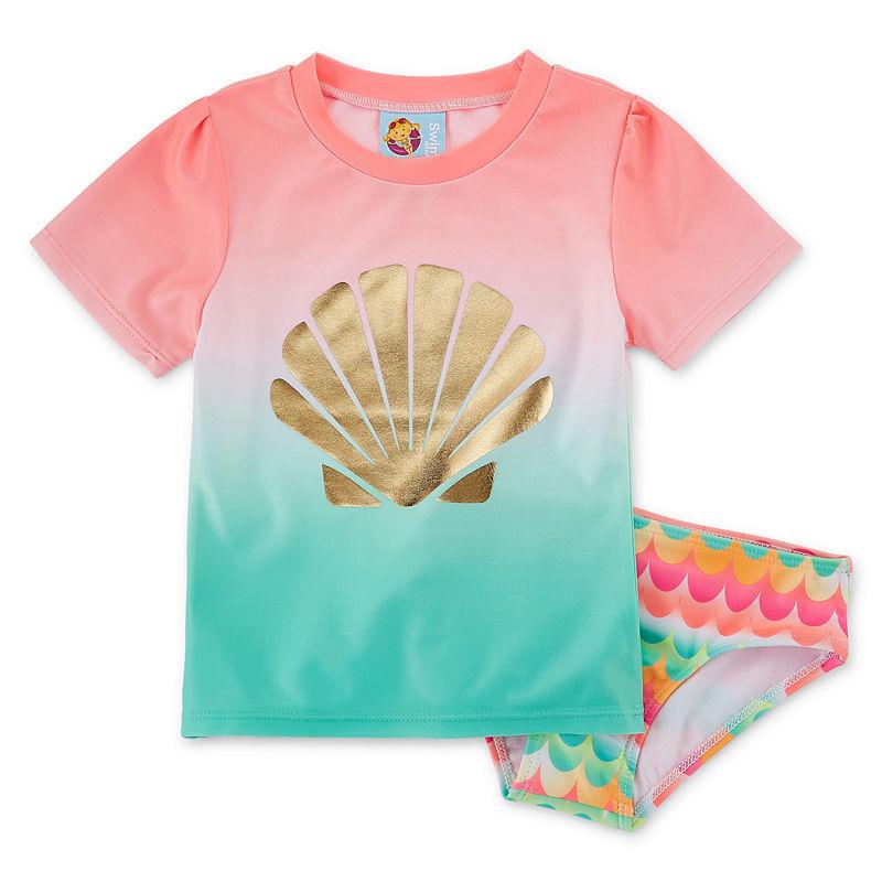 Baby Buns GirlsRashguard Set Toddler, Girls, Multi-colored, Size 2t