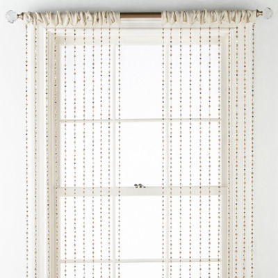 Regal Home Collections Adriana Rod-Pocket Sheer Curtain Panel