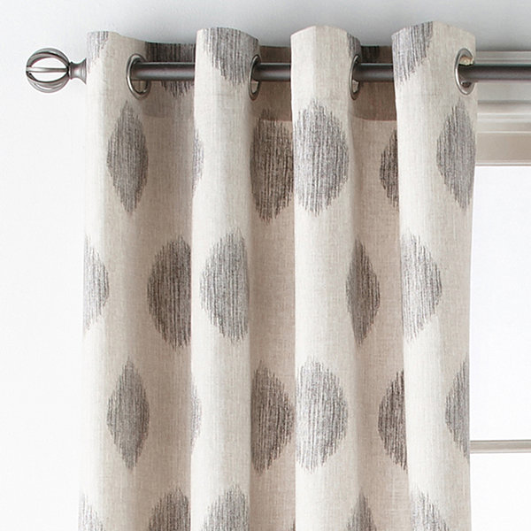 JCPenney Home Verona Calico Grommet-Top Curtain Panel