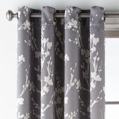 Sheridan Leaf Blackout Grommet-Top Curtain Panel