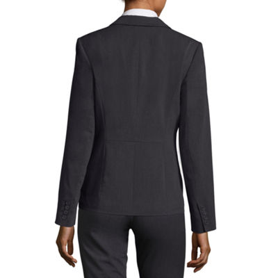 Liz Claiborne One-Button Peak Lapel Blazer