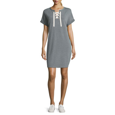 Xersion Short Sleeve Lace Up Dress