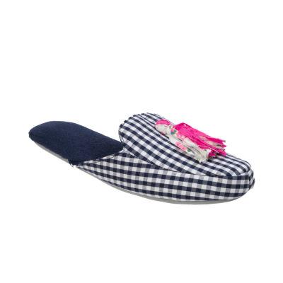 Dearfoams Tassel Scuff Slip-On Slippers