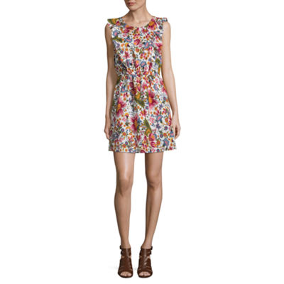City Streets Sleeveless Floral Fit & Flare Dress