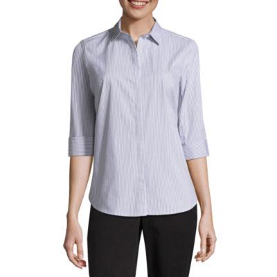Liz Claiborne 3/4 Cuff Shirt - Tall