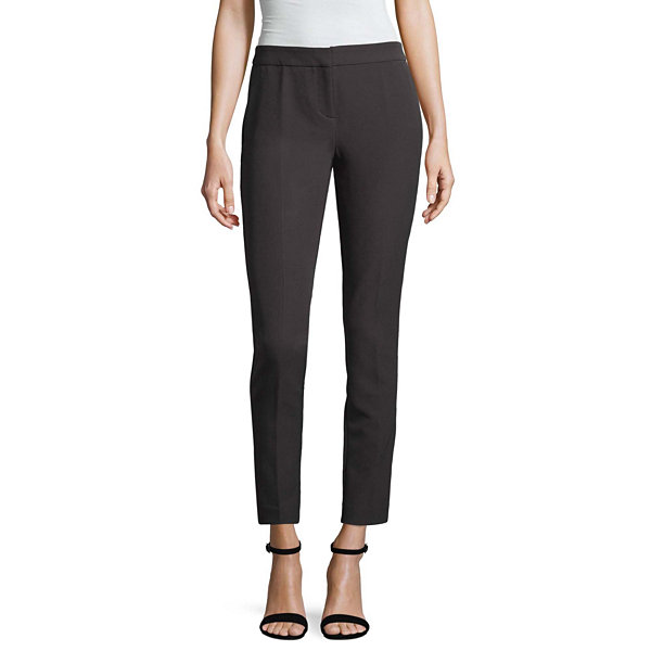 Worthington Slim Leg Belted Ankle Pant - Tall Inseam 32""