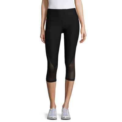 Xersion Curved Block Leggings Capri - Tall Inseam 21""
