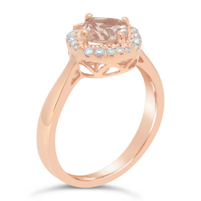 Womens 1/7 CT. T.W. Pink Morganite 10K Gold Cocktail Ring