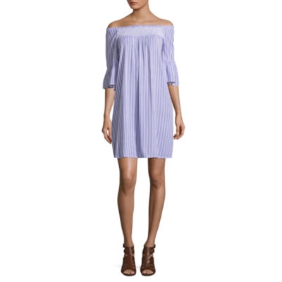 a.n.a Smocked Flutter Sleeve Dress - Tall