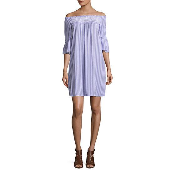 a.n.a Smocked Flutter Sleeve Dress - Tall