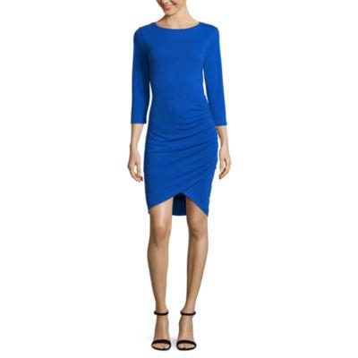 Worthington Side Shirred Dress - Tall