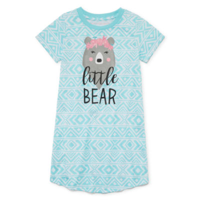 Girls Jersey Nightshirt Short Sleeve Mommy and Me