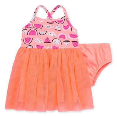 Okie Dokie Watermelon Tutu Sleeveless Dress - Baby Girl NB-24M